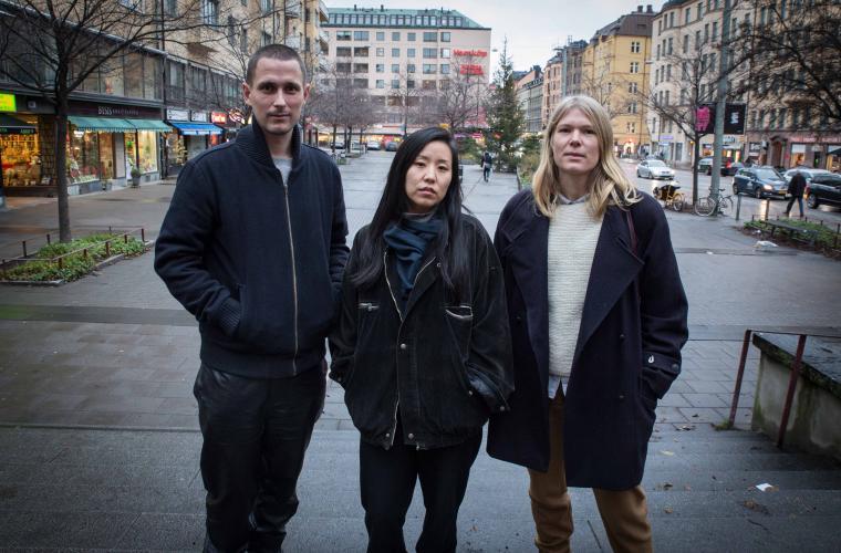 Elof Hellström, Sarah Kim och Åsa Johansson har skapat centrumkartan.
